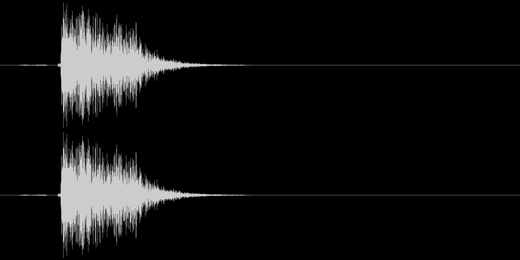 キュイン(選択、決定、金属、低め)の未再生の波形