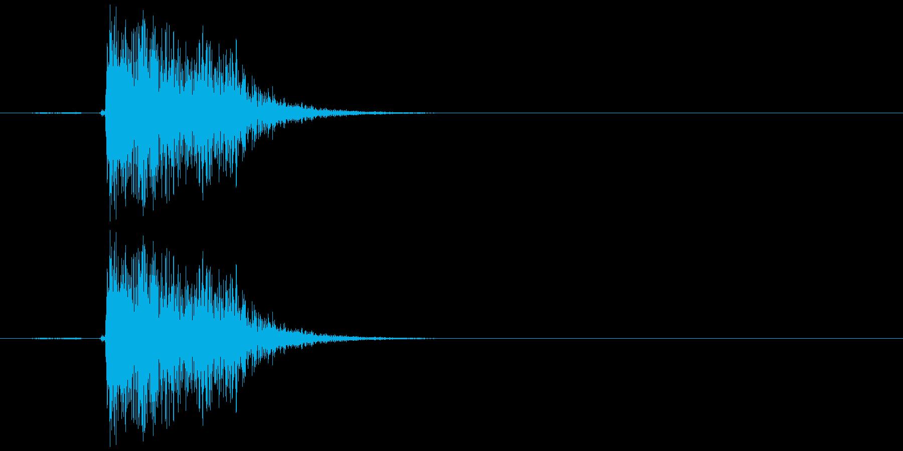 キュイン(選択、決定、金属、低め)の再生済みの波形