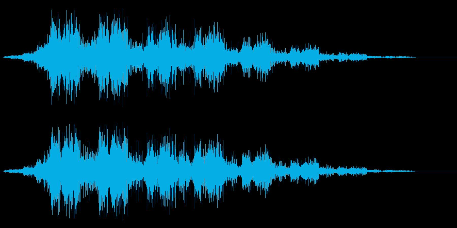 シュルルルル(ロープを巻くような音)の再生済みの波形
