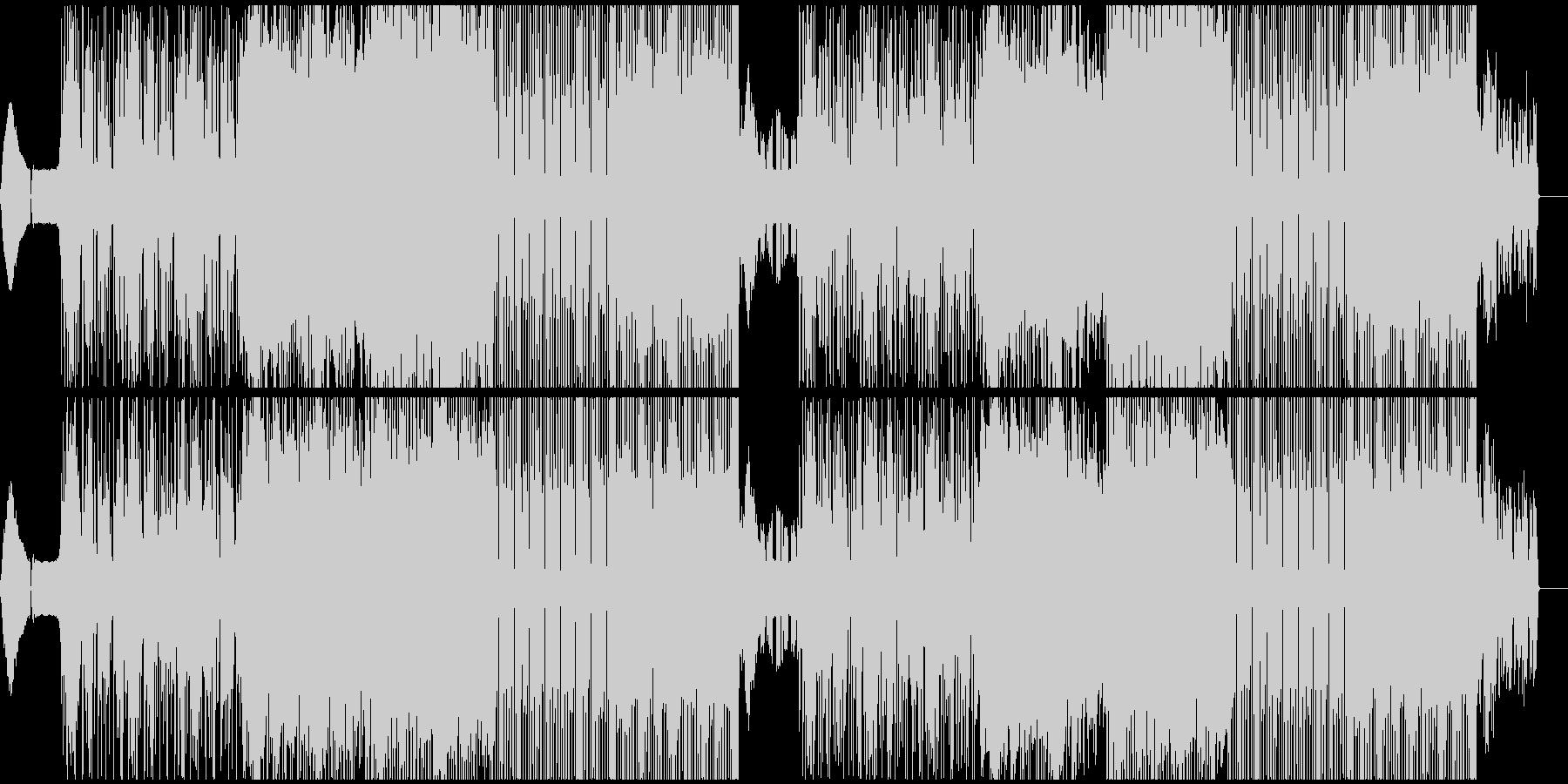 和楽器を使ったDopeなダンス系BGMの未再生の波形