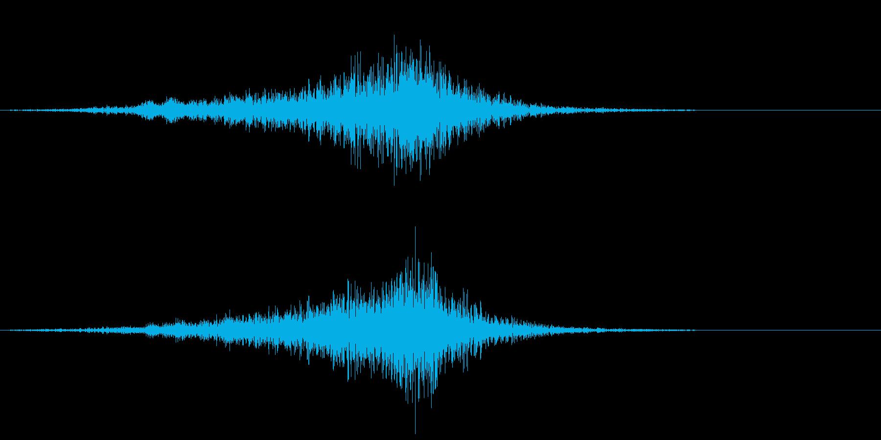 オーケストラで不安感を煽るフレーズの再生済みの波形