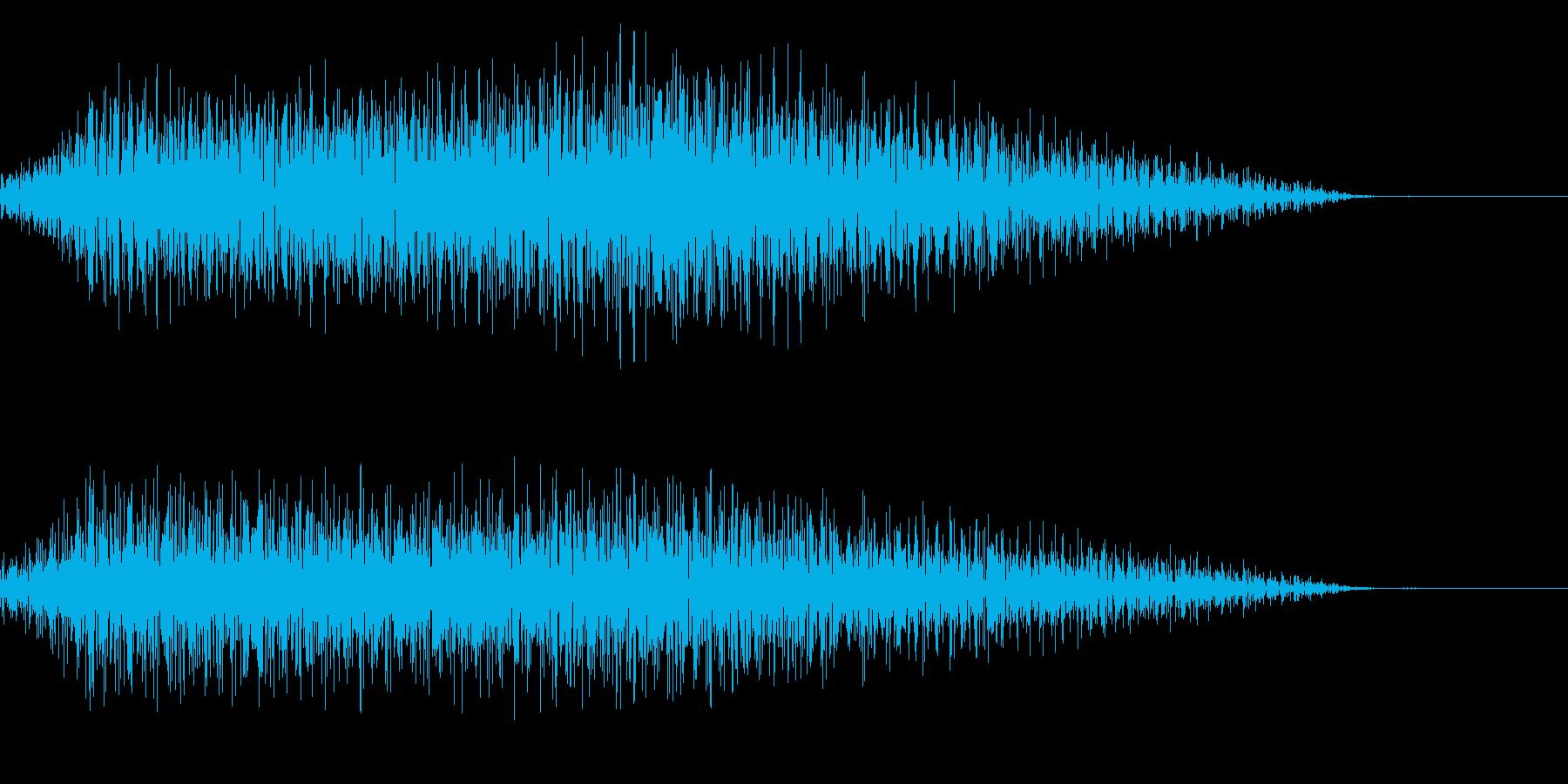 シュイーン(閉まる 縮む 縮小)の再生済みの波形
