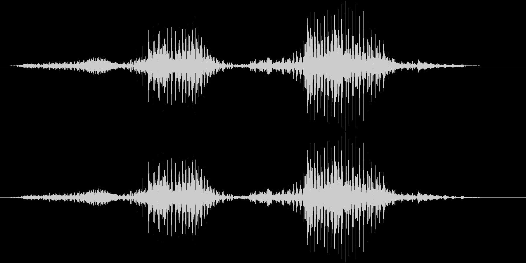 「正解」の未再生の波形