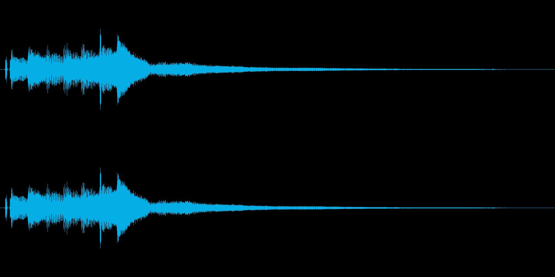 ピアノ。タラララン。の再生済みの波形