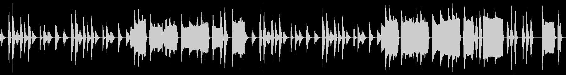 【ループ】間の抜けた雰囲気のコミカルな曲の未再生の波形