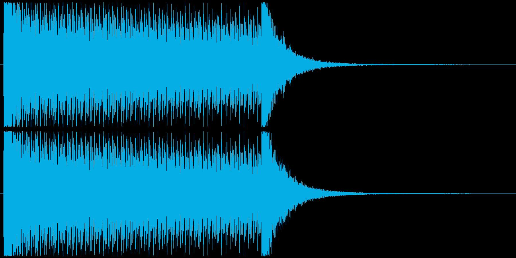 7秒ドラムロールの再生済みの波形