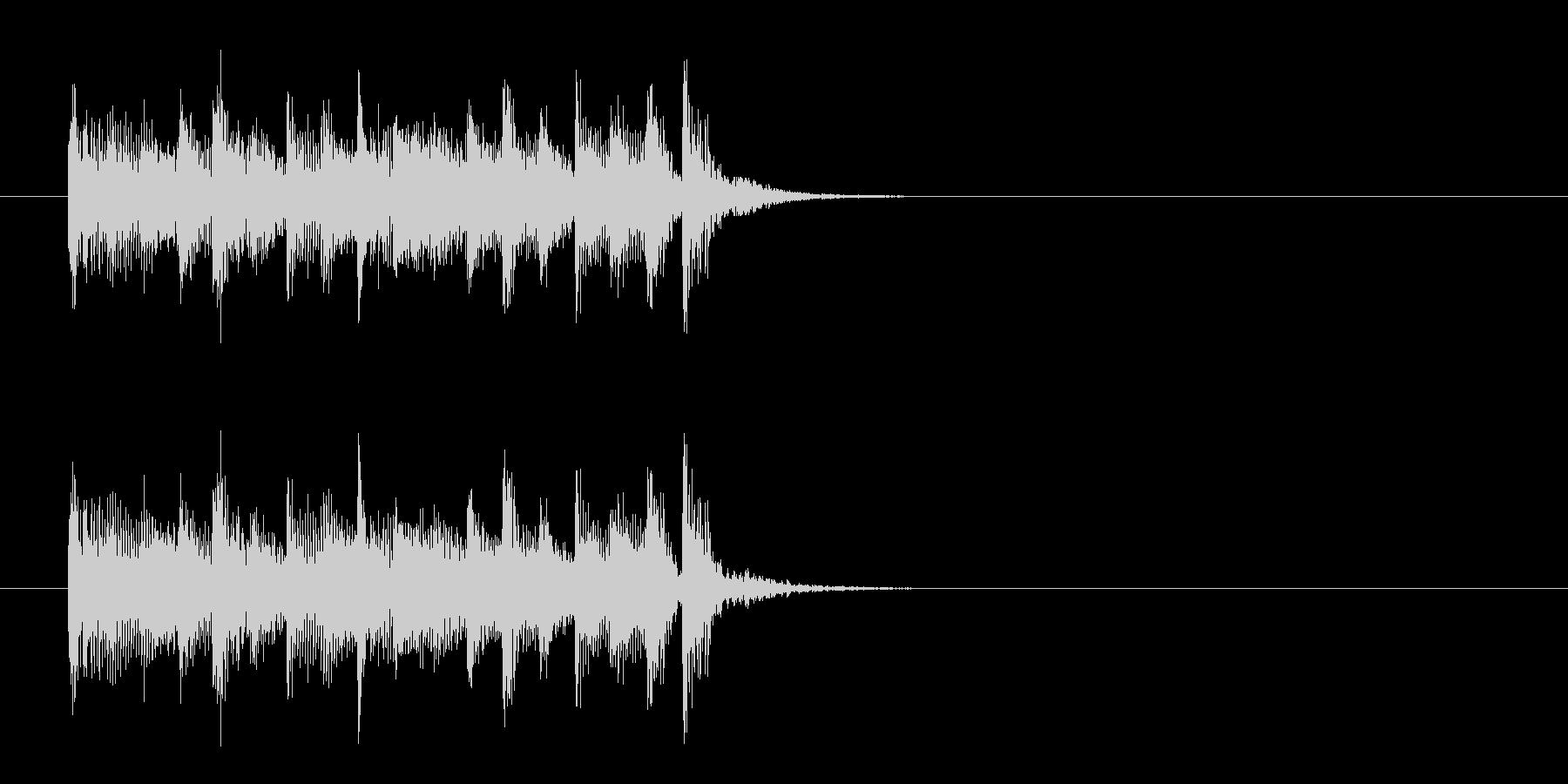 ジングル(マイナー・オリエンタル風)の未再生の波形