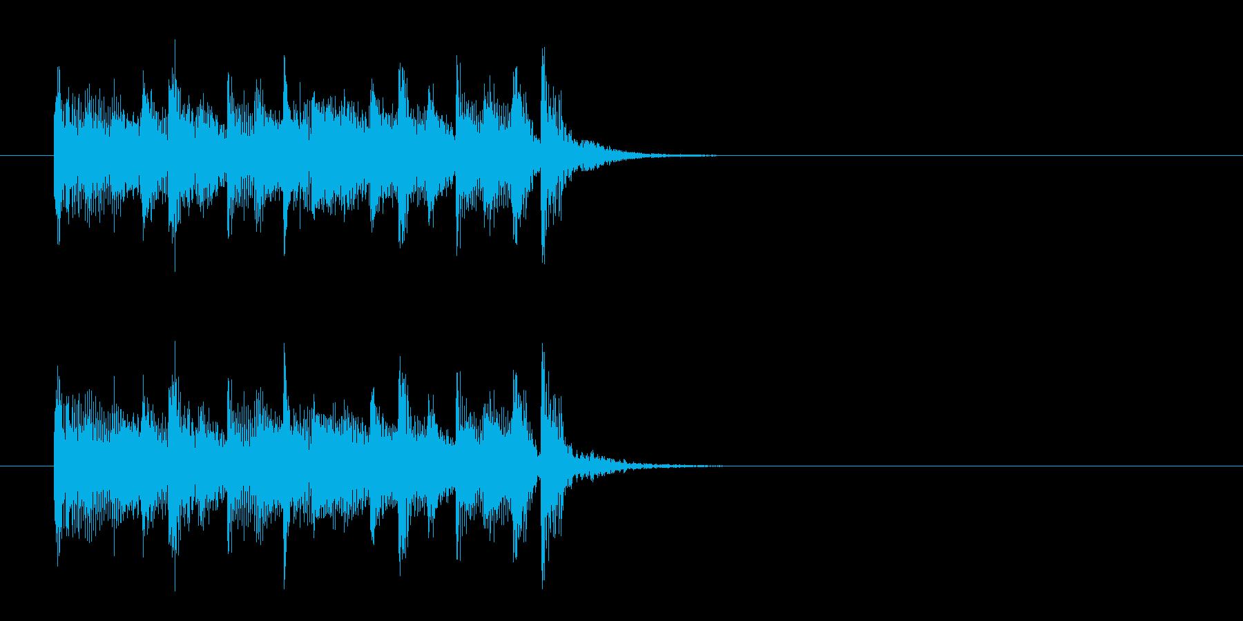 ジングル(マイナー・オリエンタル風)の再生済みの波形