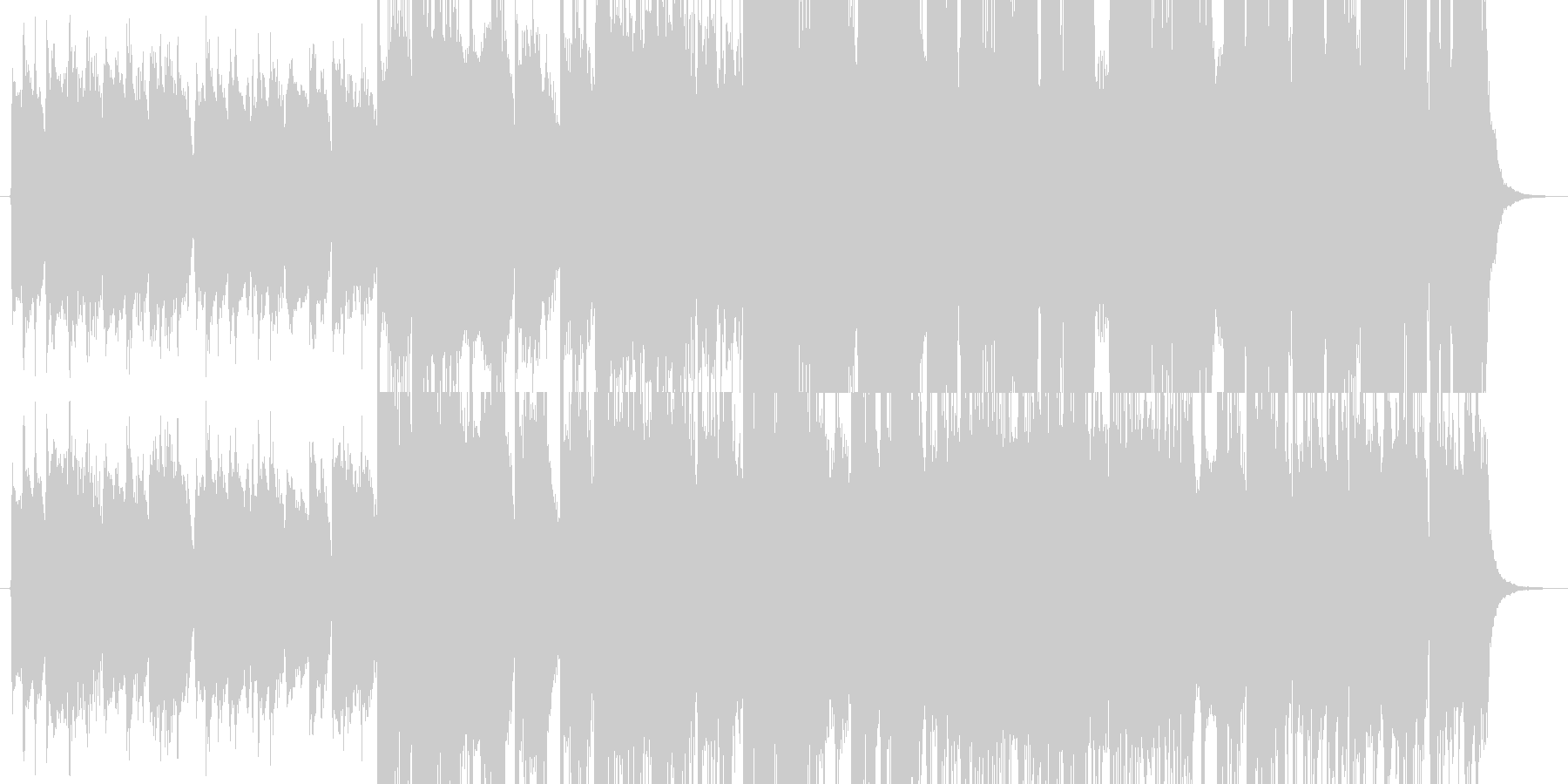 CM用短めアンビエントの未再生の波形