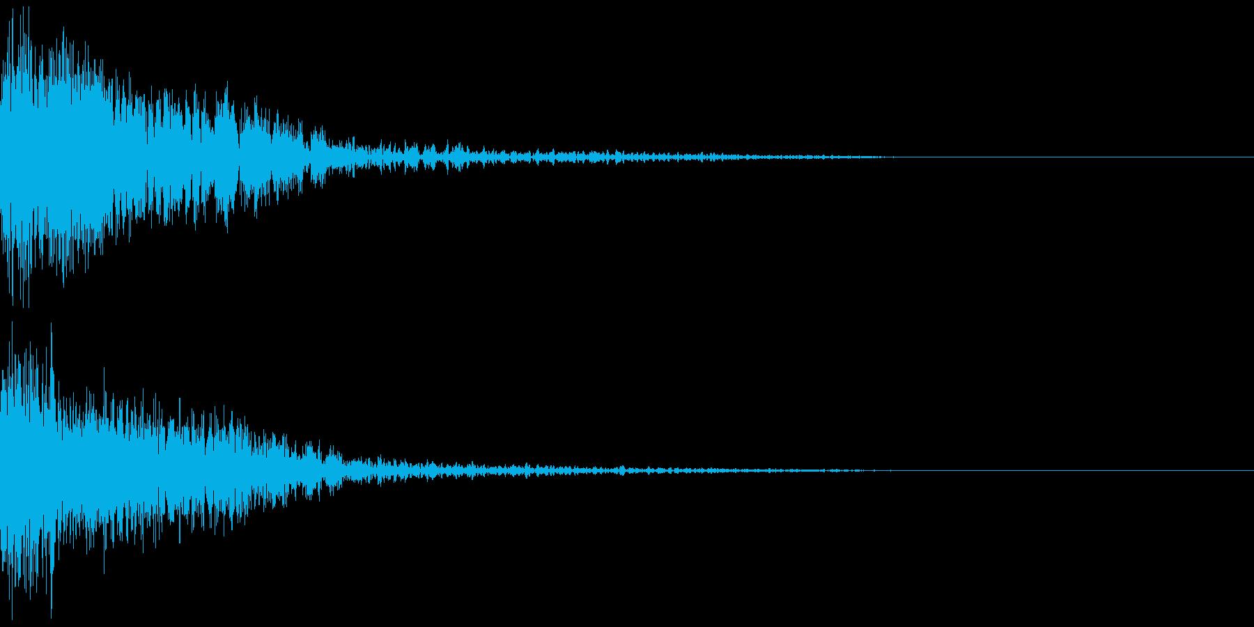 ホラーゲームのショートジングルの再生済みの波形