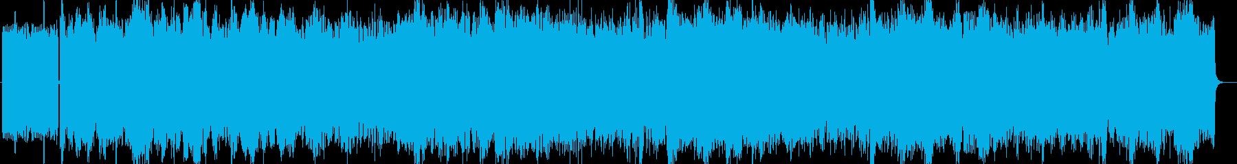 激しく勢いのあるシンセ系テクノの再生済みの波形