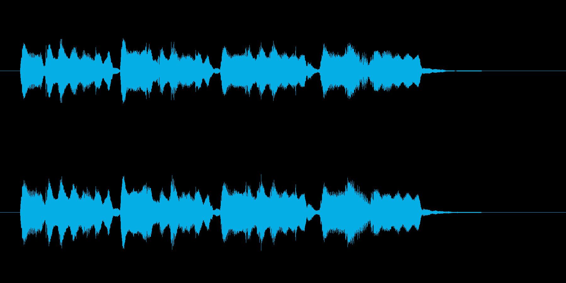 明るく愉快な笛のメロディーのポップスの再生済みの波形