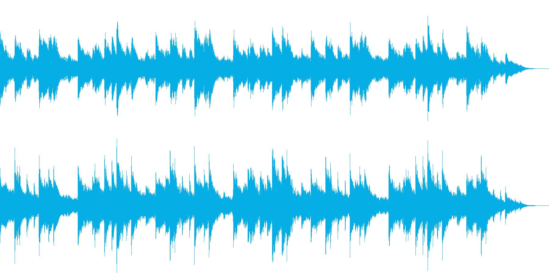 30秒・ピアノとストリングス・静かな夜の再生済みの波形