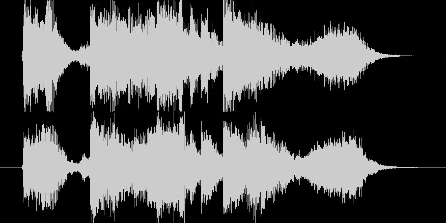 ピアノ、ストリングスの爽やかなジングルの未再生の波形
