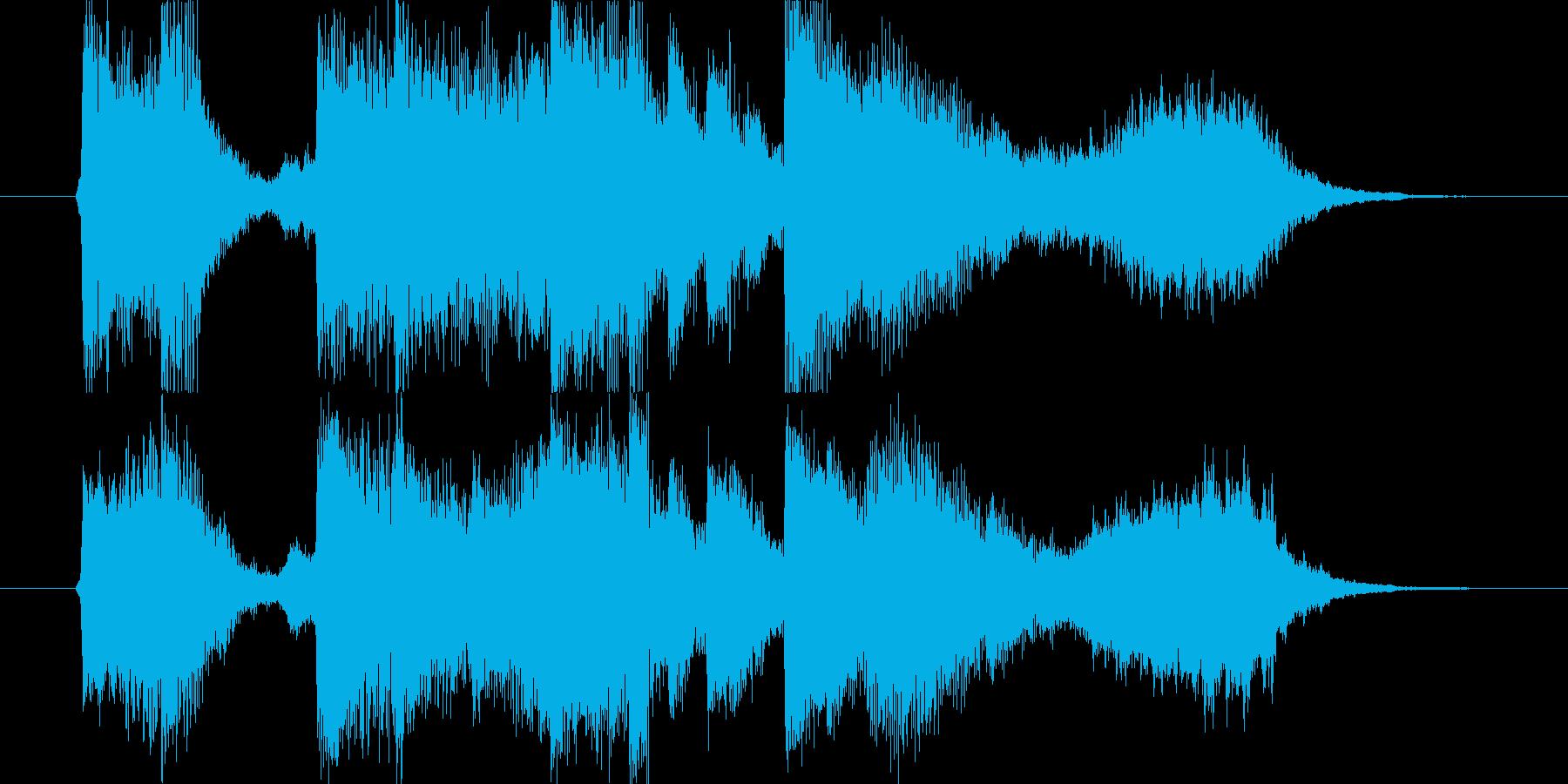 ピアノ、ストリングスの爽やかなジングルの再生済みの波形