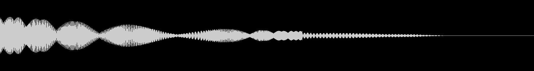 キュピというかわいいタッチ音です。の未再生の波形