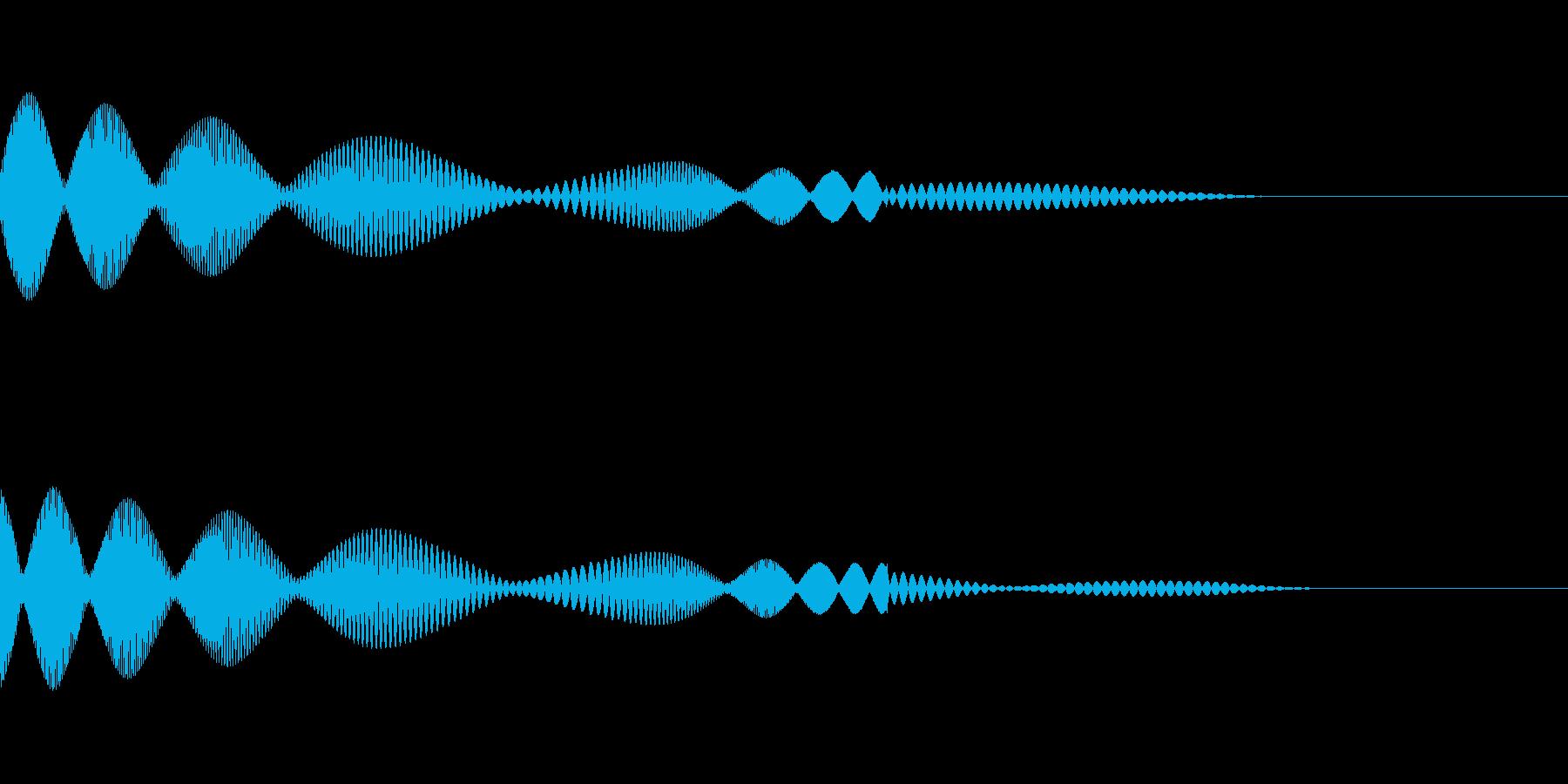 キュピというかわいいタッチ音です。の再生済みの波形