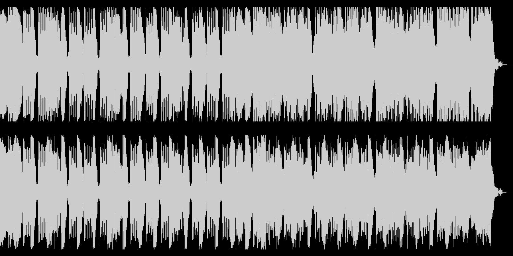 16秒 重厚感とキレのあるテクノの未再生の波形