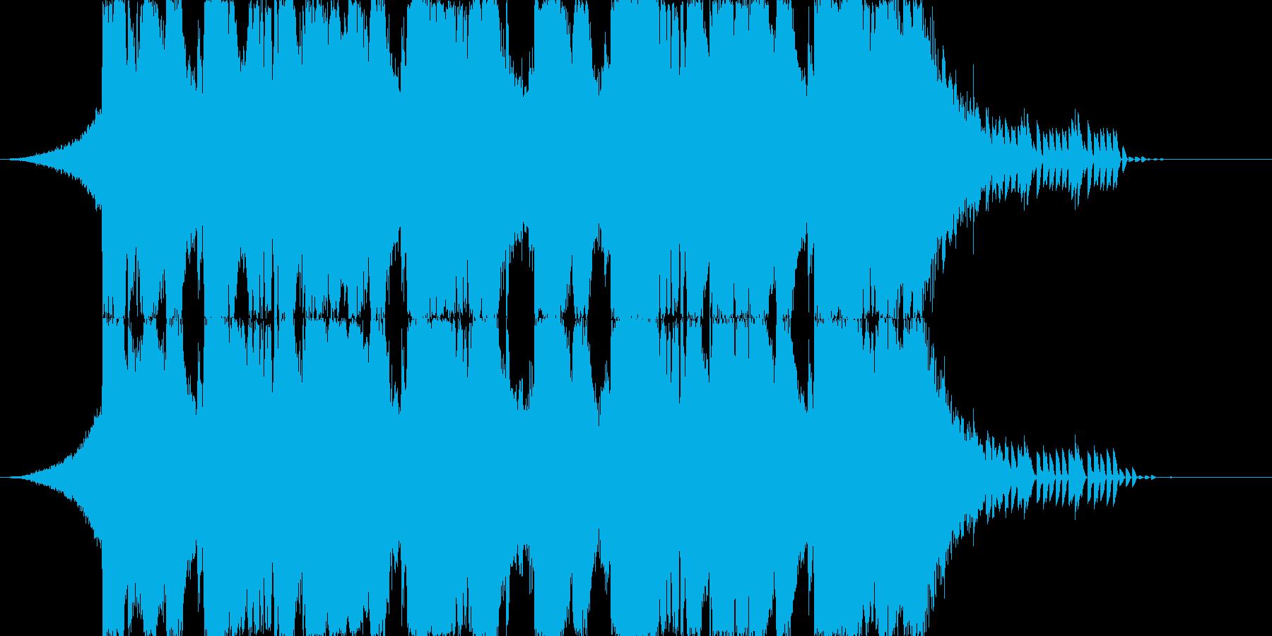 ラウドなダブステップのジングル43秒の再生済みの波形