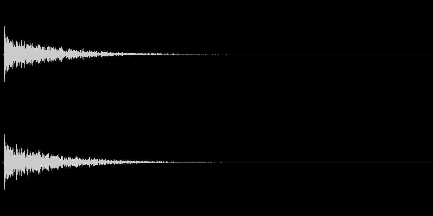 【フィンガースナップ02-1】の未再生の波形