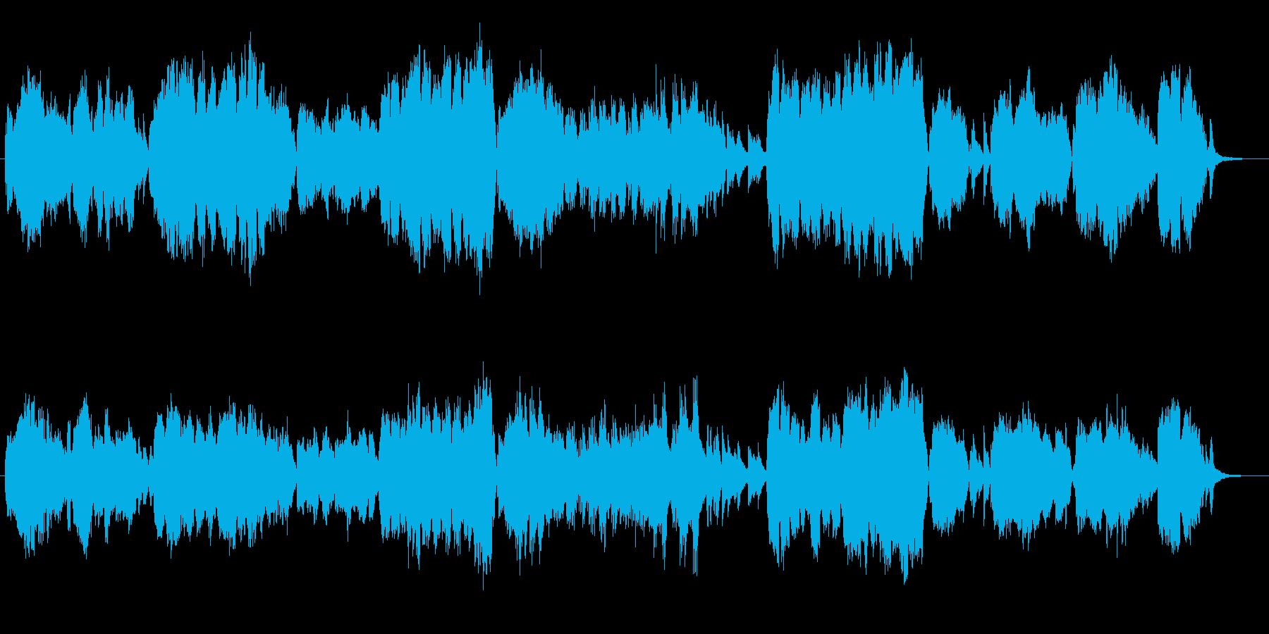 自然系のBGMの再生済みの波形