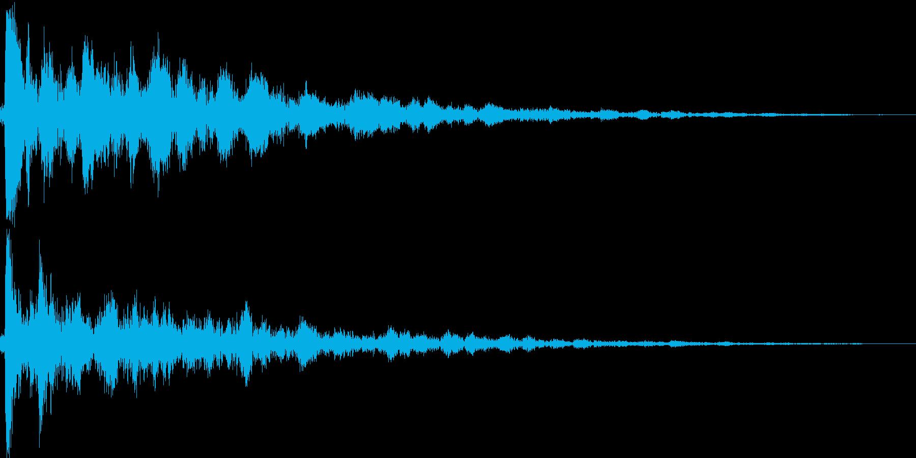 拍子木を1回打ち合わせるの再生済みの波形