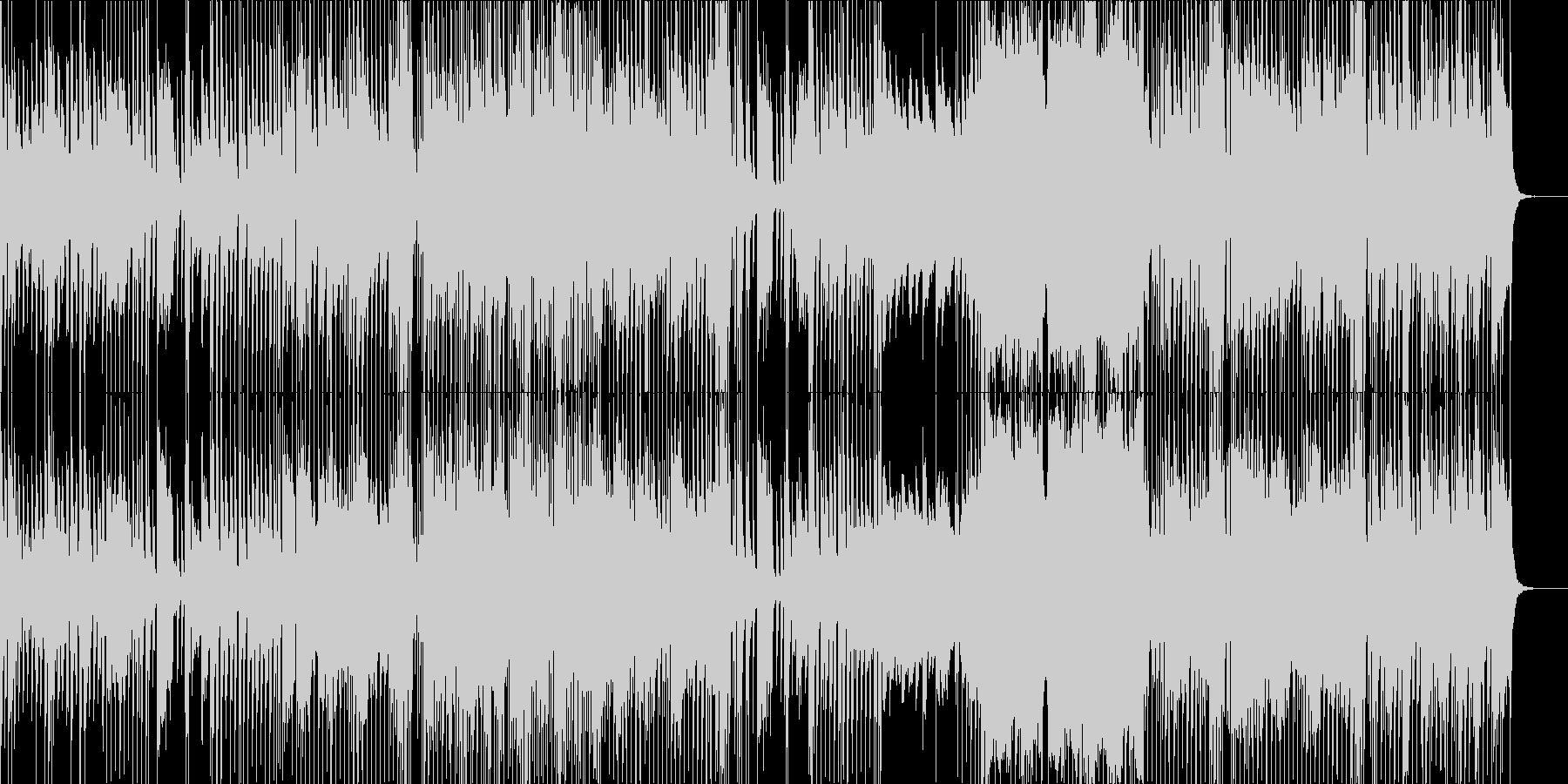 シンセと印象的なエレキギターの未再生の波形