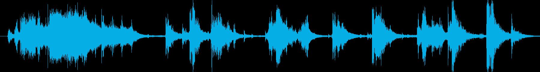 お風呂場効果音・環境音の再生済みの波形