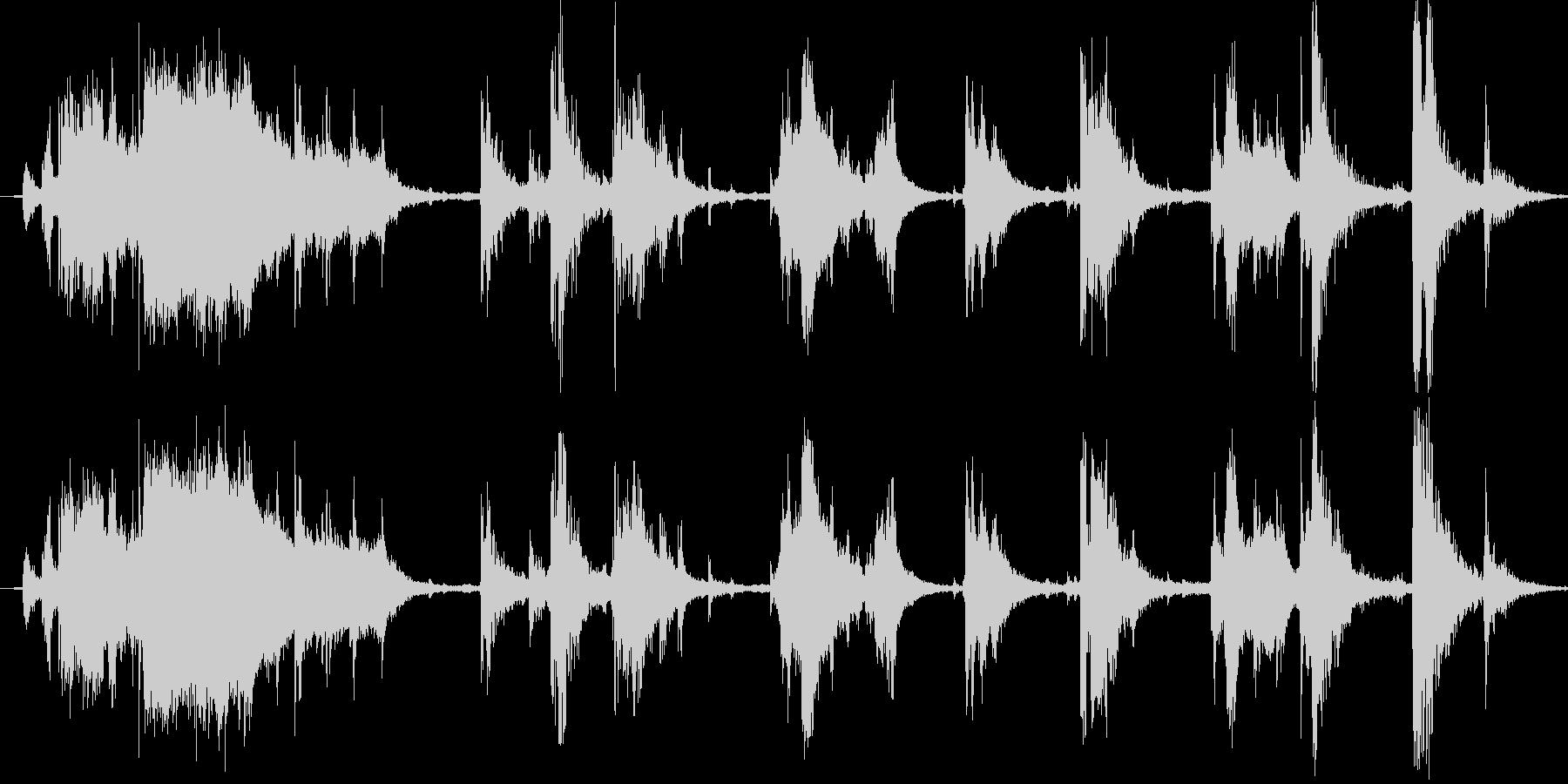 お風呂場効果音・環境音の未再生の波形