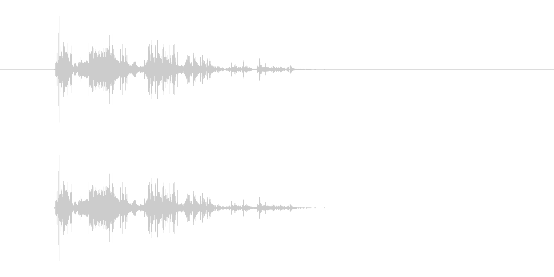 金属落下音の未再生の波形