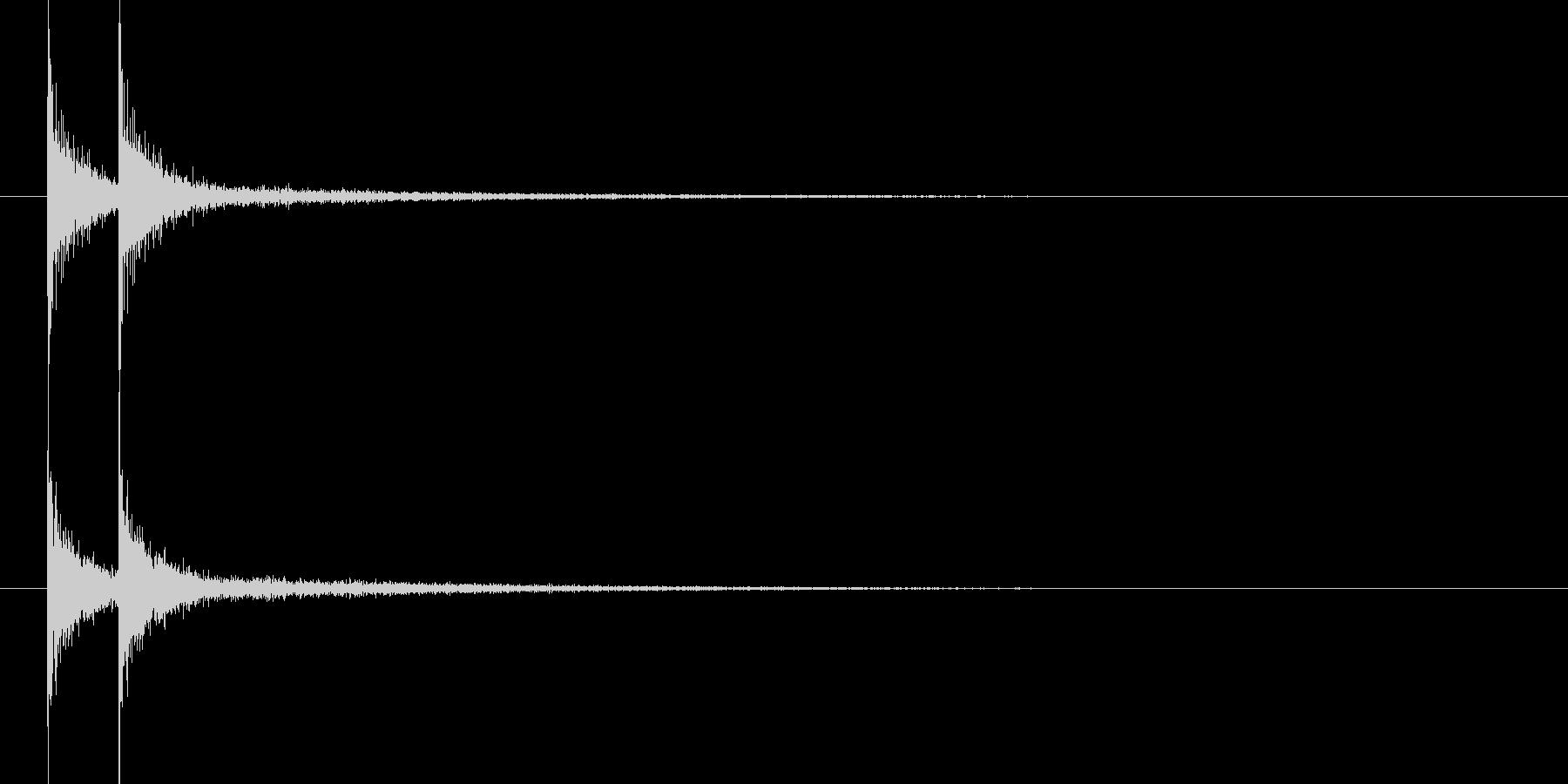 コンコン(和風 太鼓)の未再生の波形
