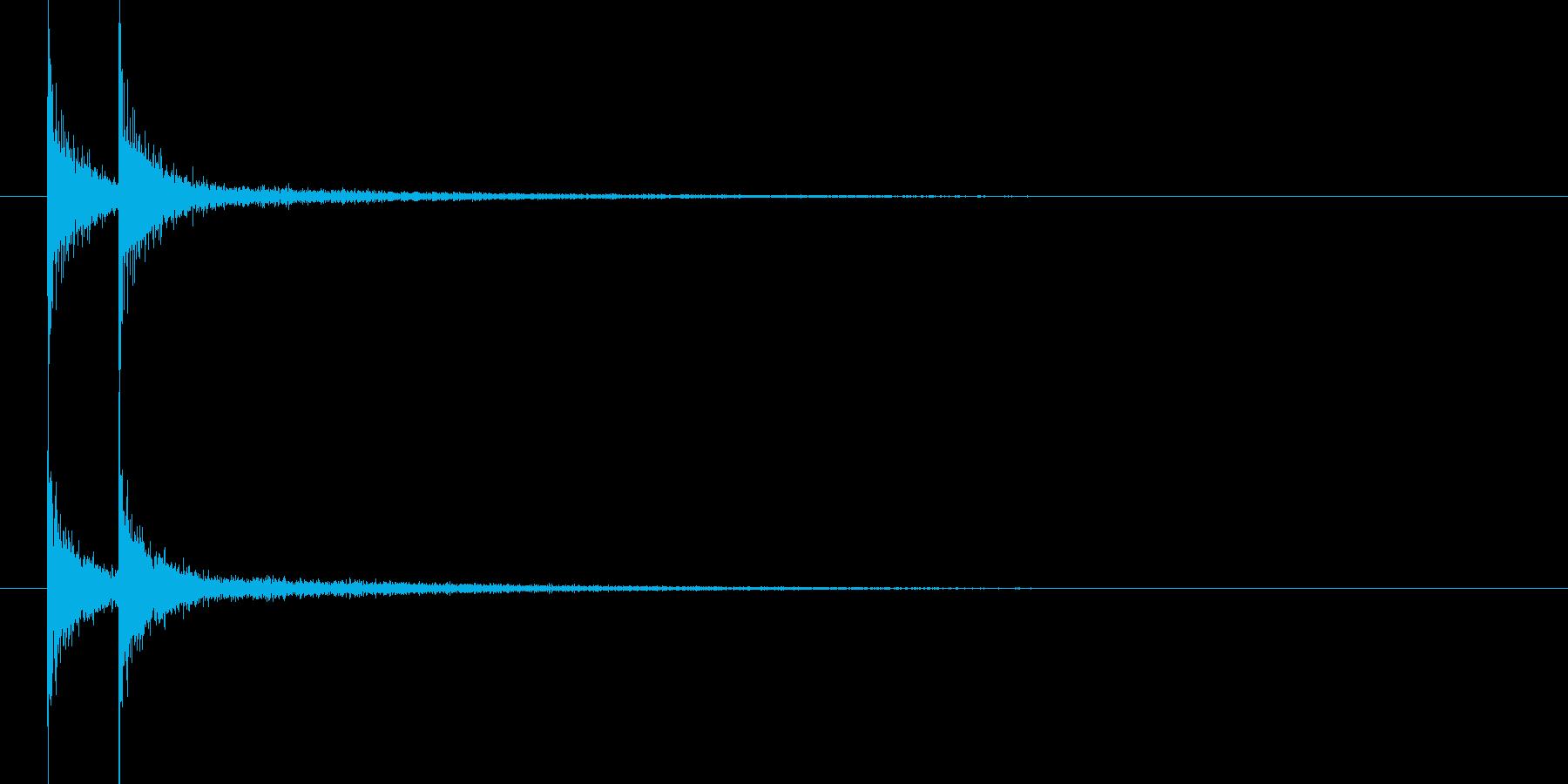 コンコン(和風 太鼓)の再生済みの波形