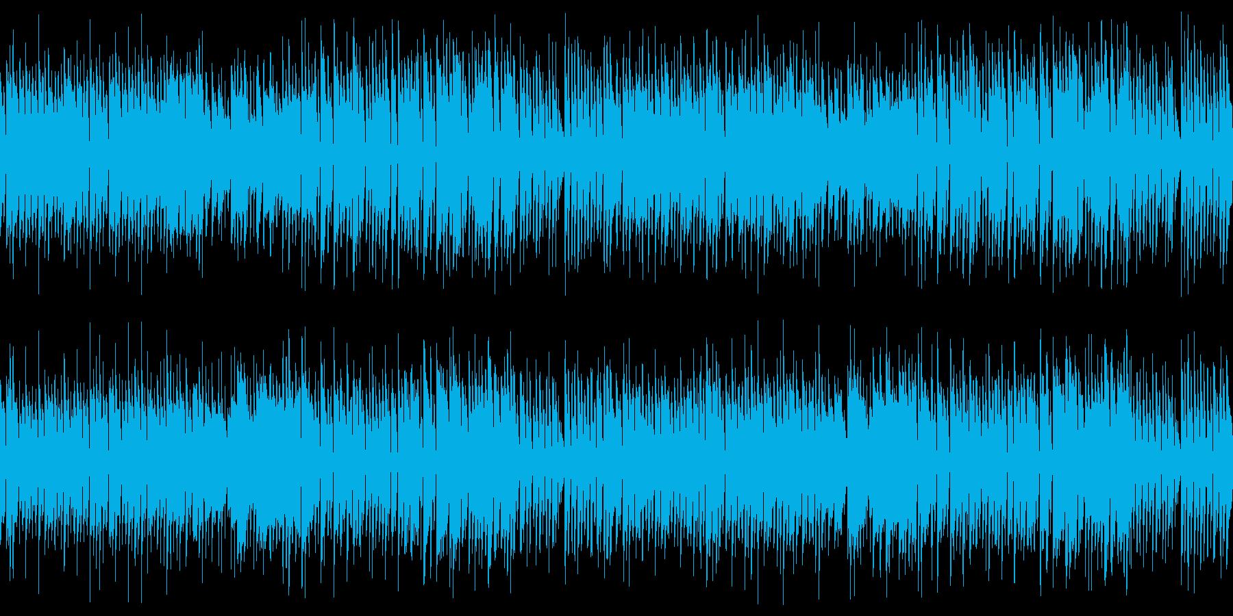 ハロウィン向けポップなホラーループ楽曲の再生済みの波形
