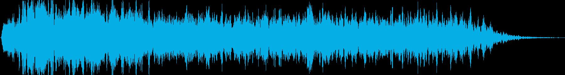 ホラー系敵接近時BGMの再生済みの波形