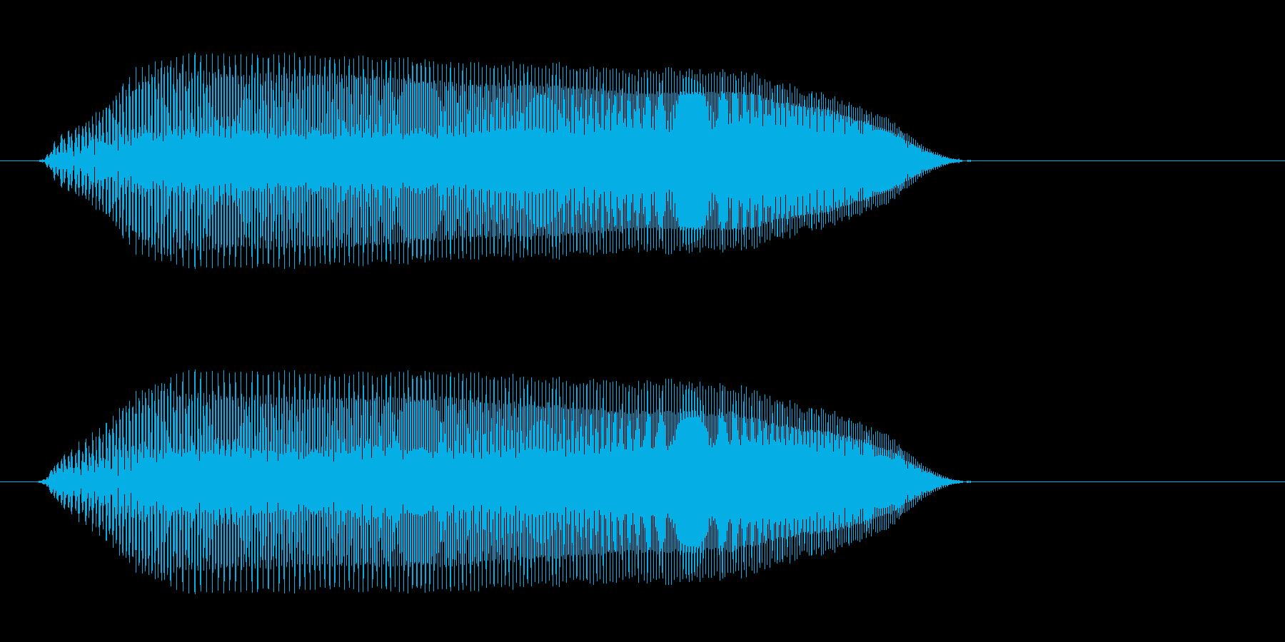 ピュッ(高めの明るい効果音)の再生済みの波形