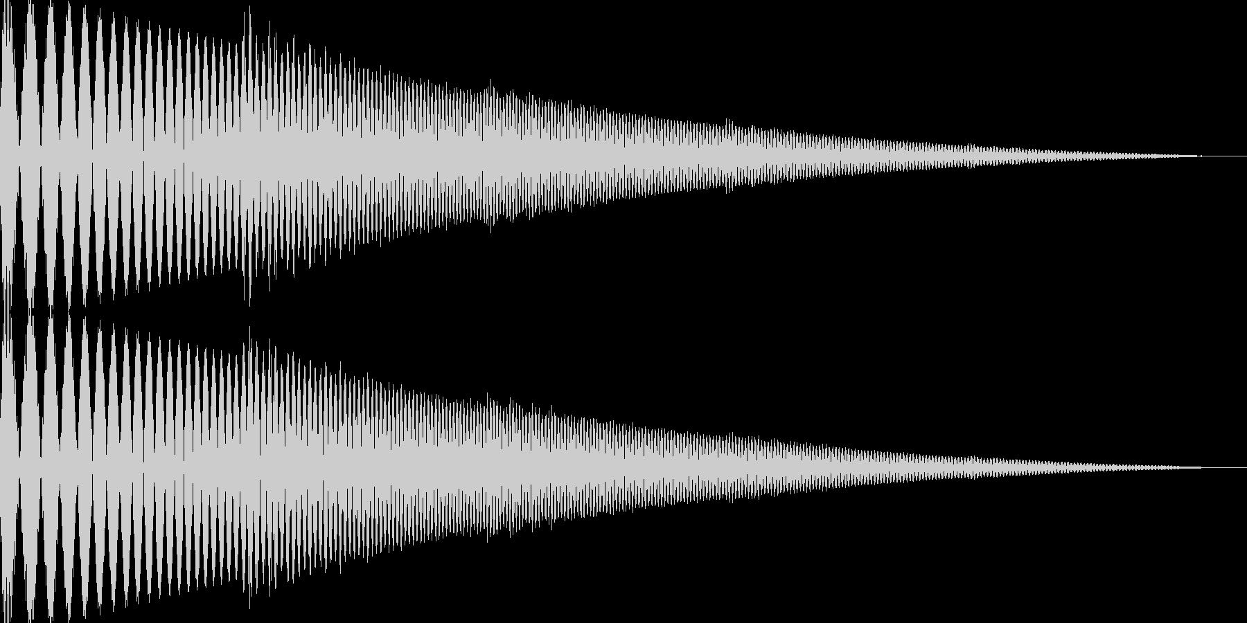 ぽよんというかわいい音です。の未再生の波形