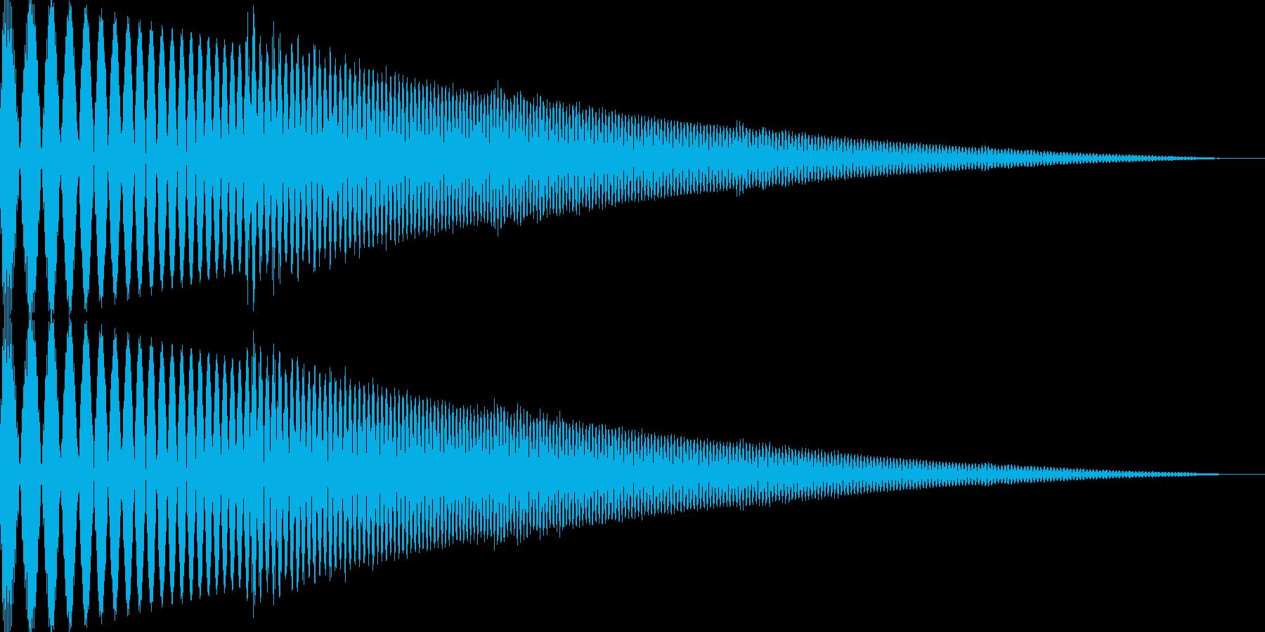 ぽよんというかわいい音です。の再生済みの波形