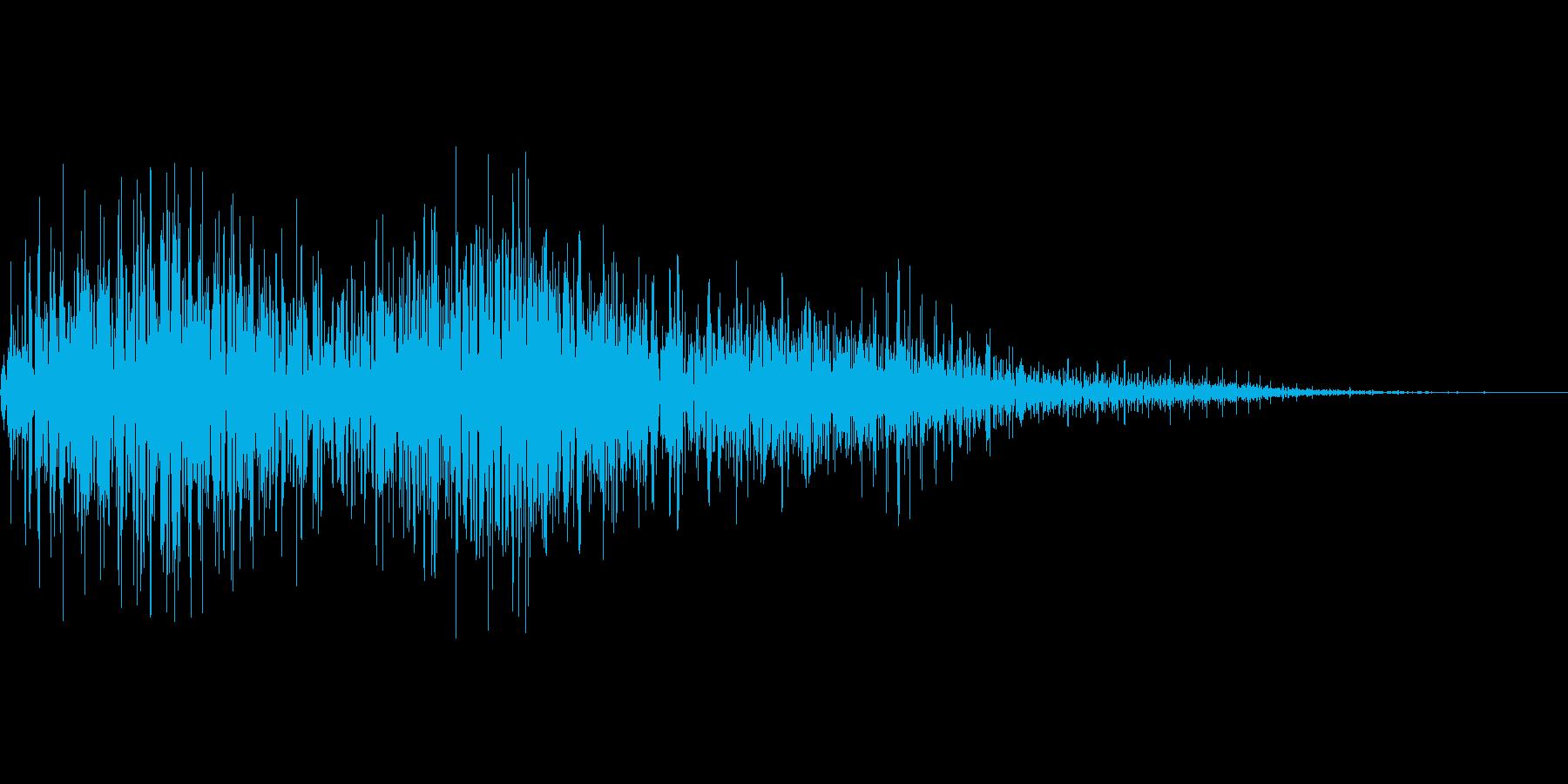びっくり箱などのモワモワ音の再生済みの波形