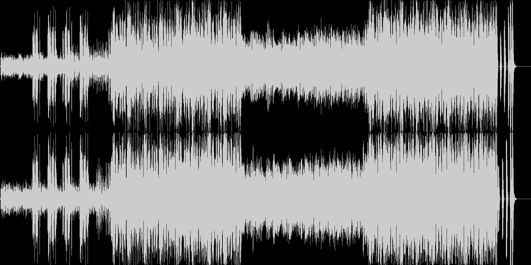 疾走感のある楽曲ですの未再生の波形