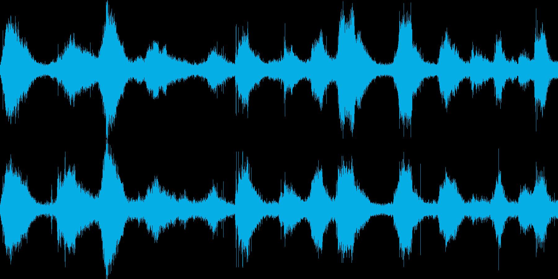 海岸(環境音)の再生済みの波形
