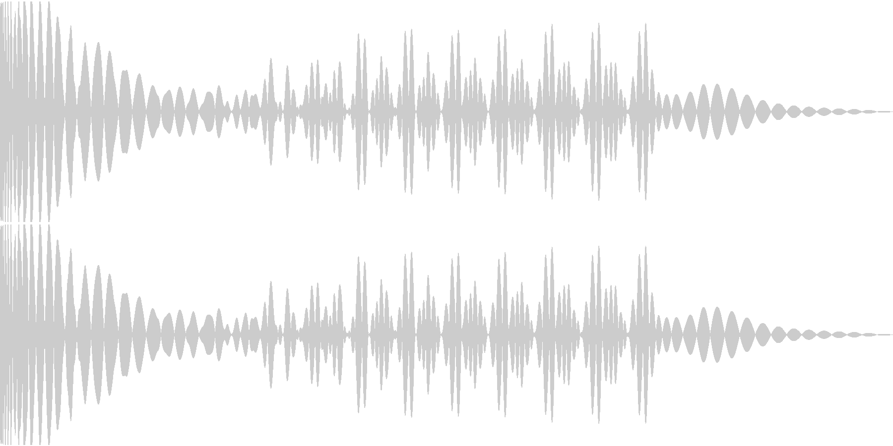 EDMキック キーBの未再生の波形