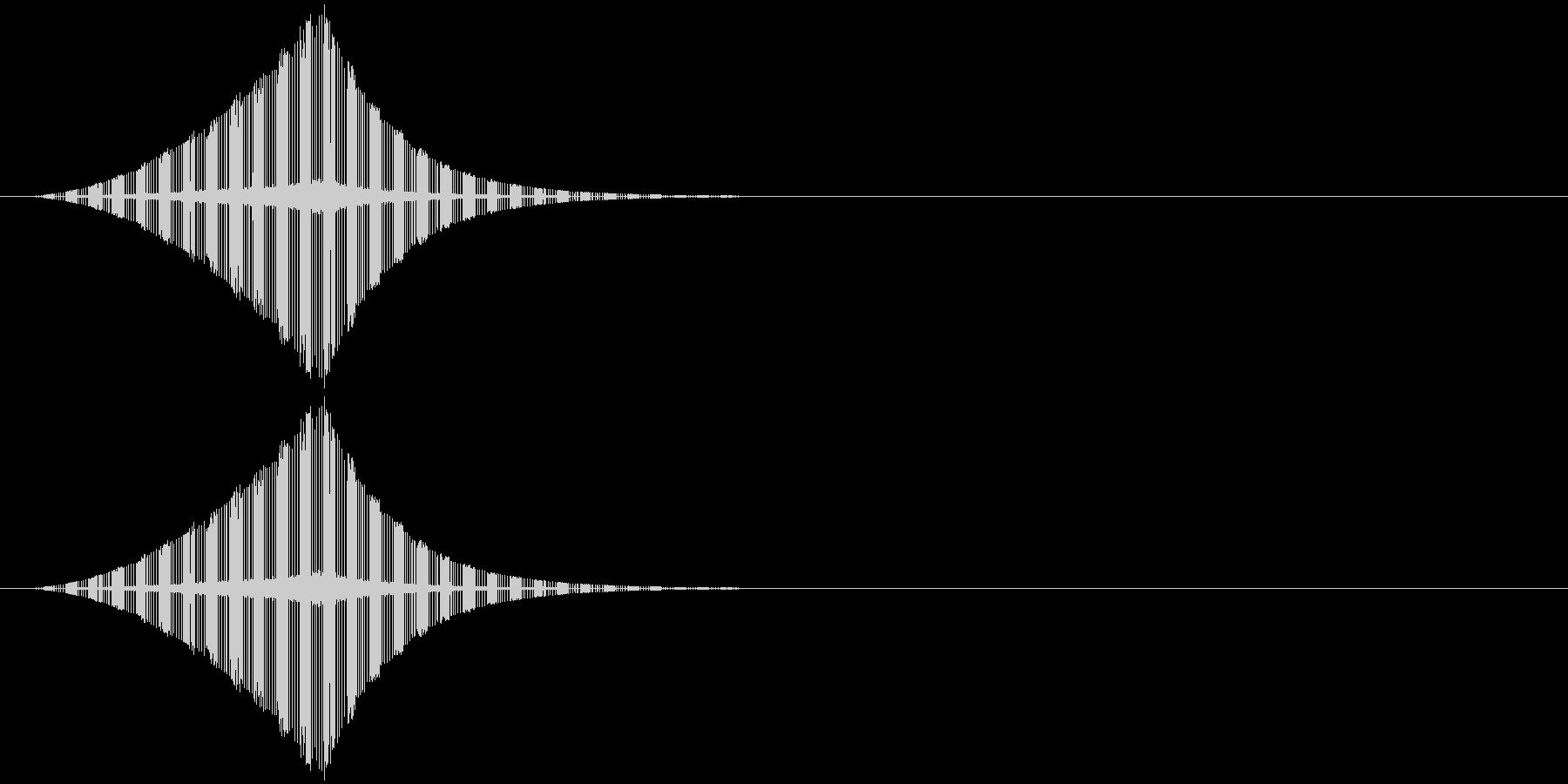 ヂュ--ン です。の未再生の波形