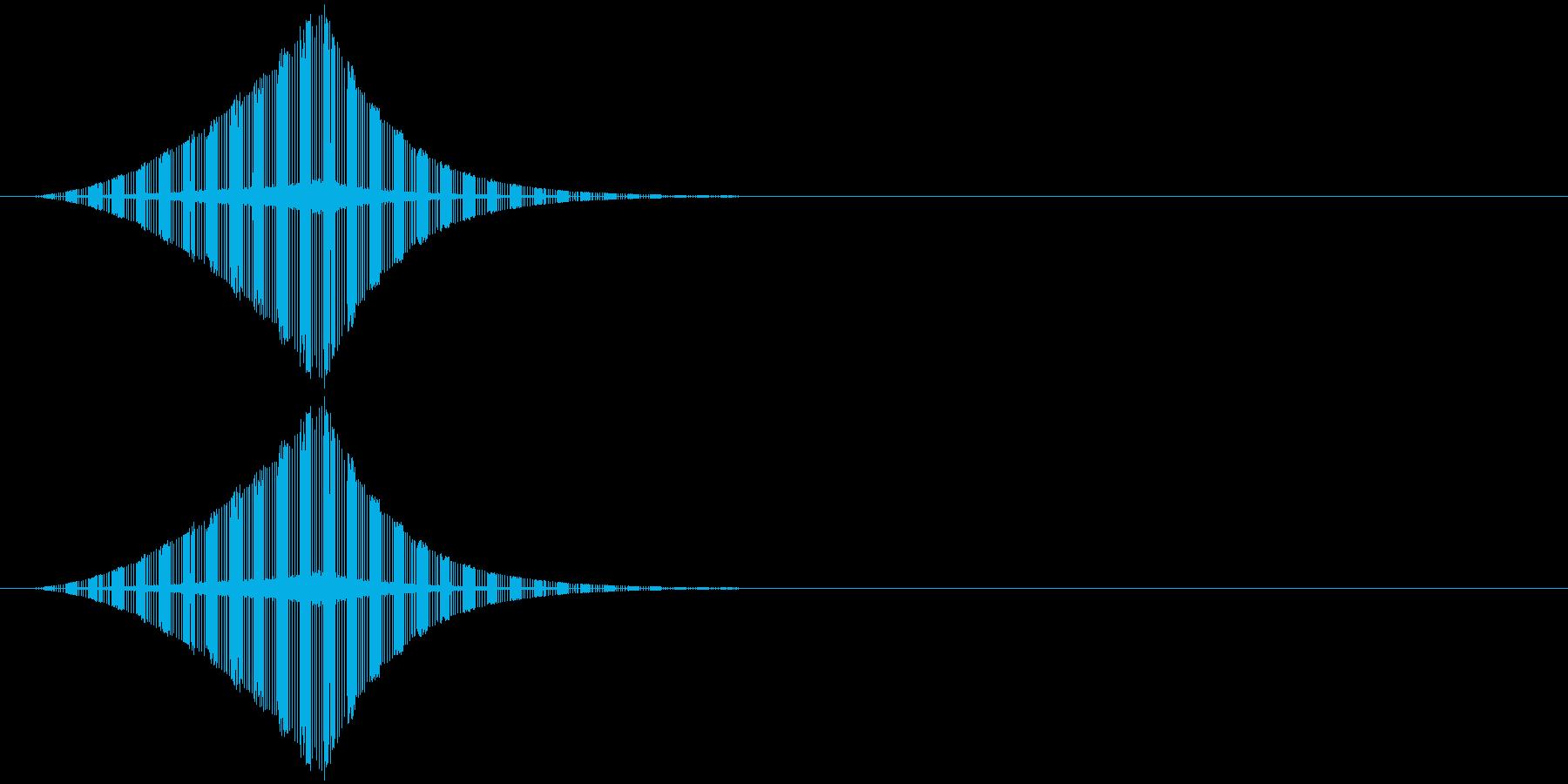 ヂュ--ン です。の再生済みの波形