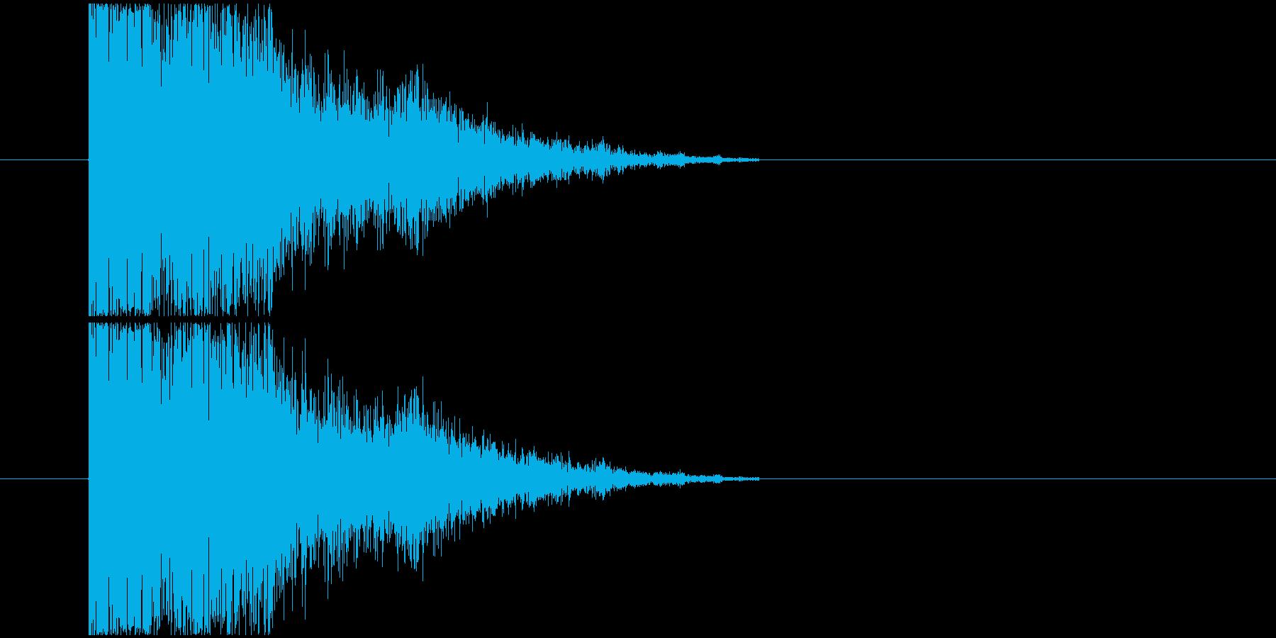 打撃_衝撃音の再生済みの波形