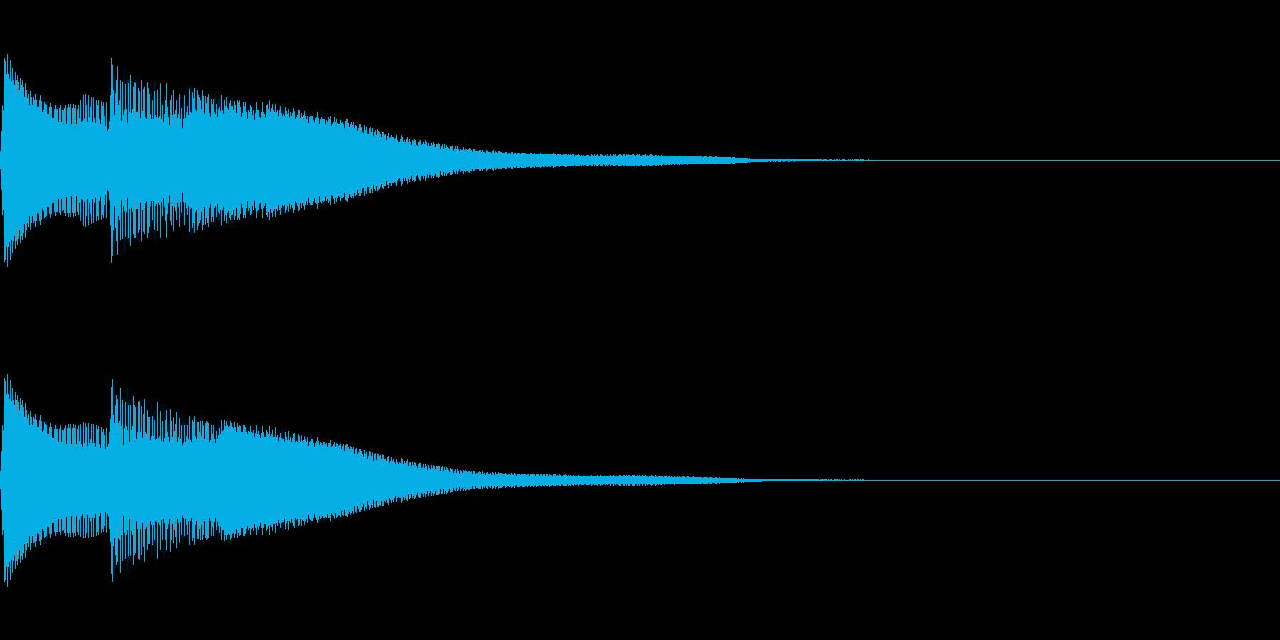 正解 1D 控え目な音 ピポンの再生済みの波形