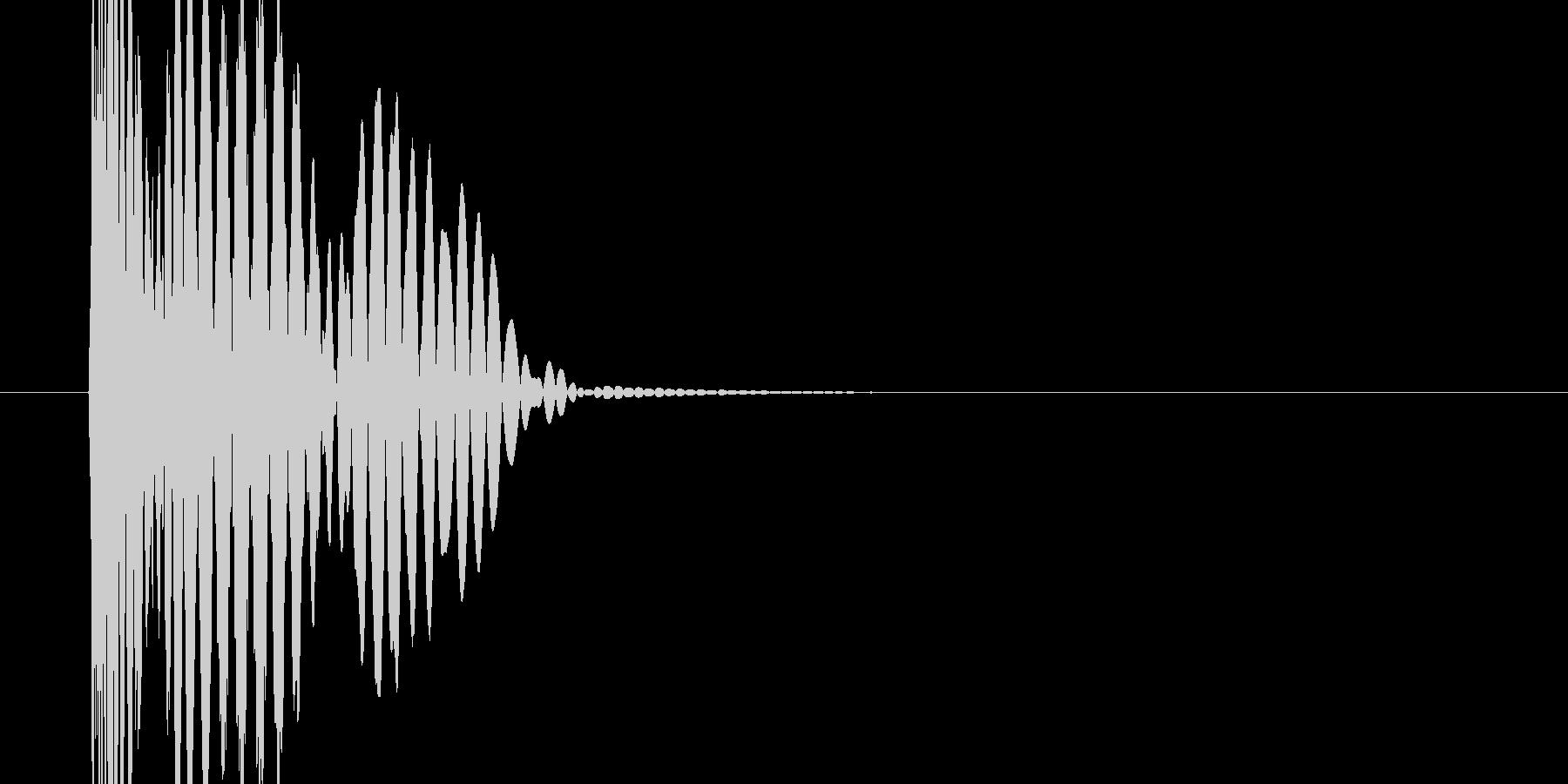 停止音(スロット)の未再生の波形