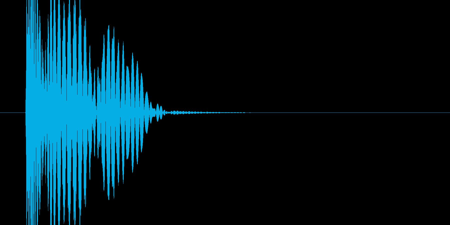 停止音(スロット)の再生済みの波形