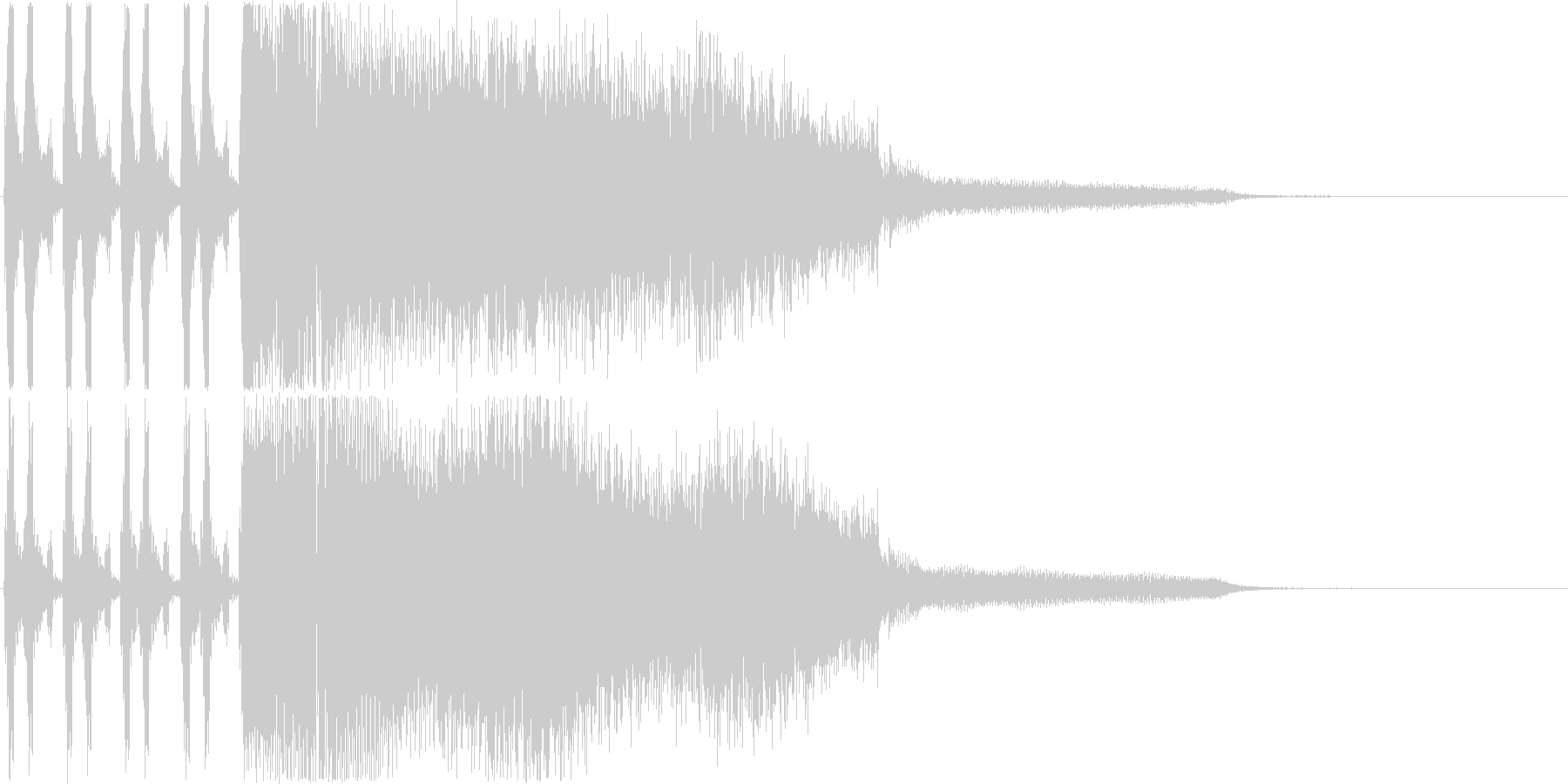 シンセ音のゲームオーバージングルですの未再生の波形