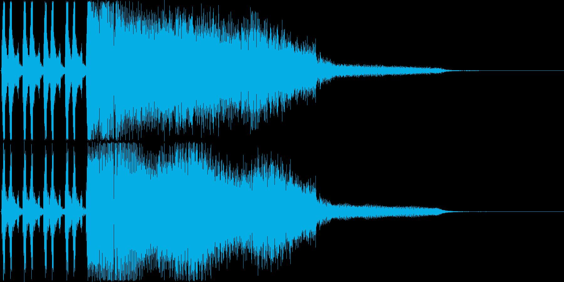シンセ音のゲームオーバージングルですの再生済みの波形