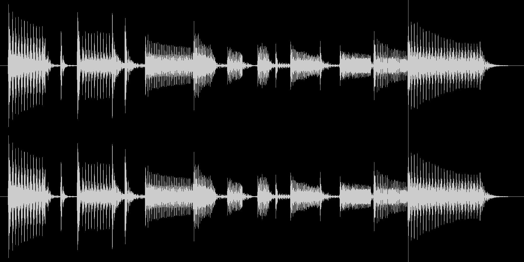 ベーススラップでファンキーなジングルの未再生の波形